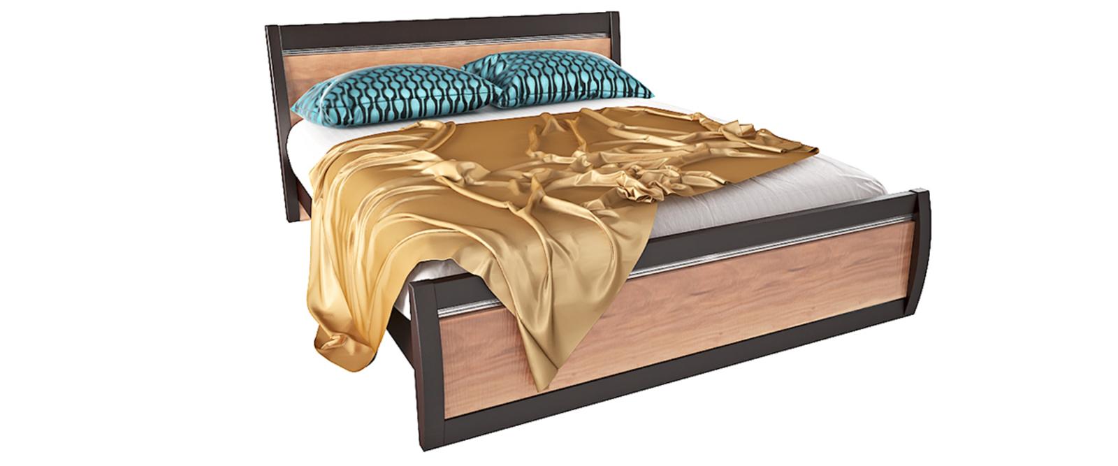 Кровать каркасная Корсика без подъемного механизма (Слива валлис)