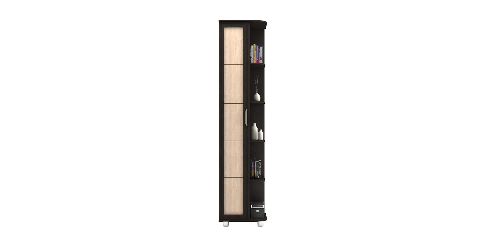 Шкаф распашной однодверный Лестер (коричневый/бежевый)