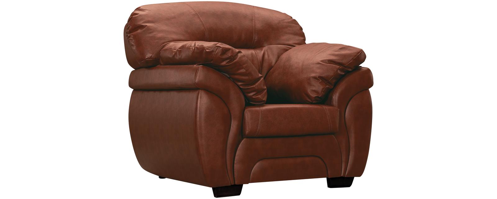 Кресло кожаное Бристоль Коричневый (Натуральная кожа)