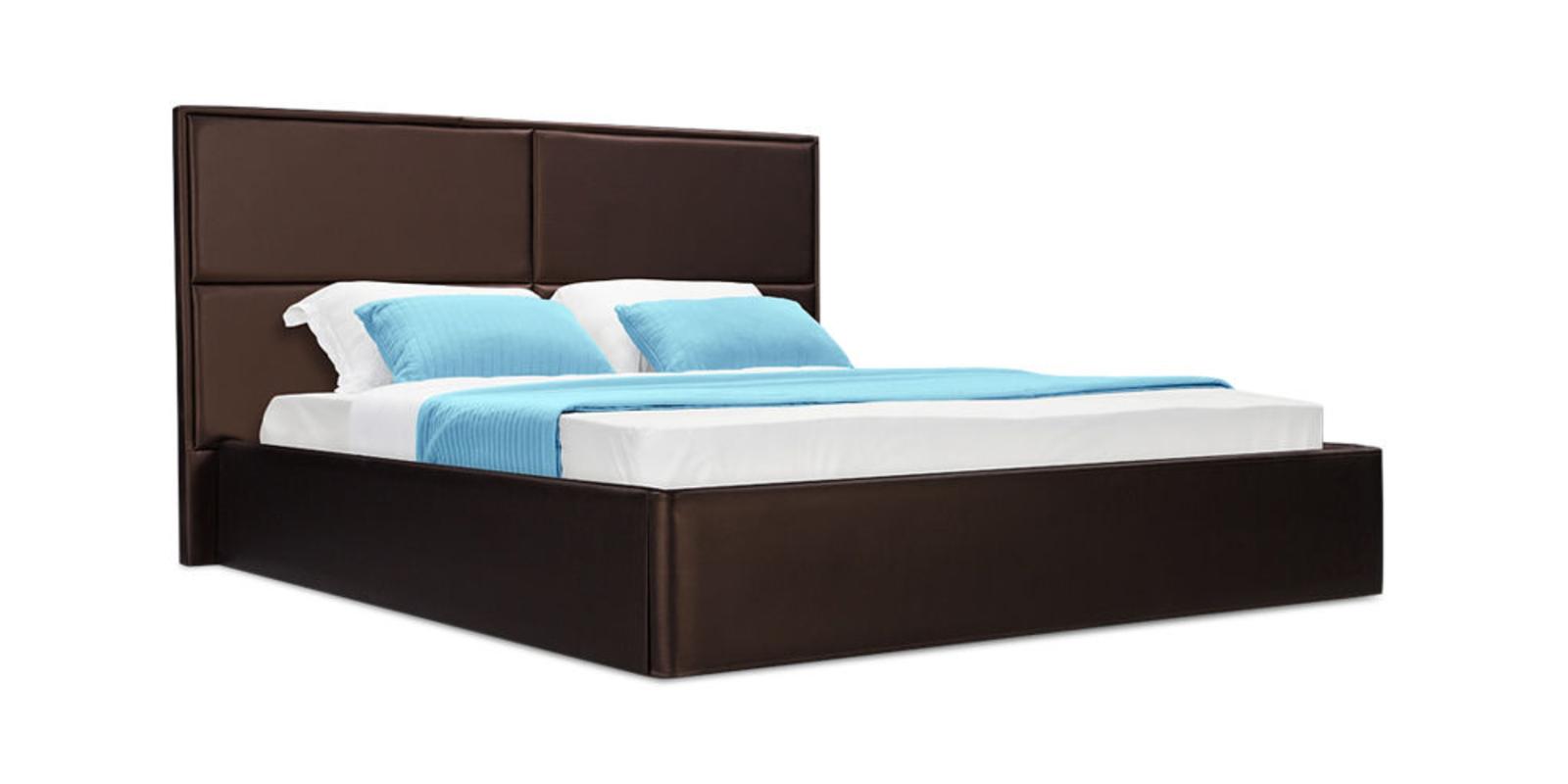 Кровать мягкая Орландо с подъемным механизмом (Luxe шоколадный)