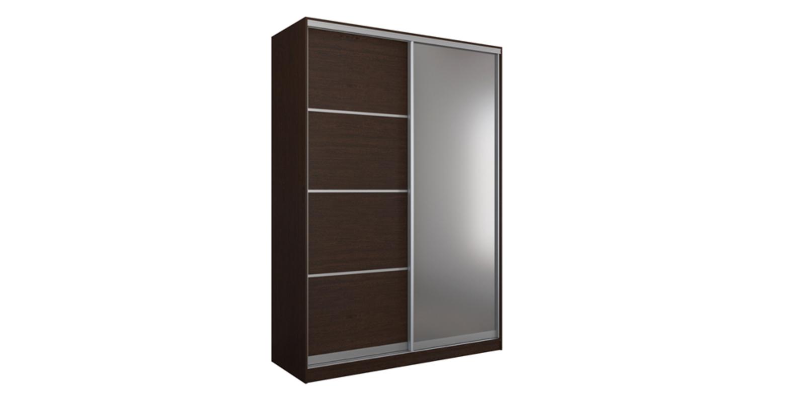 Шкаф-купе двухдверный Манхеттен 180 см (венге+зеркало)