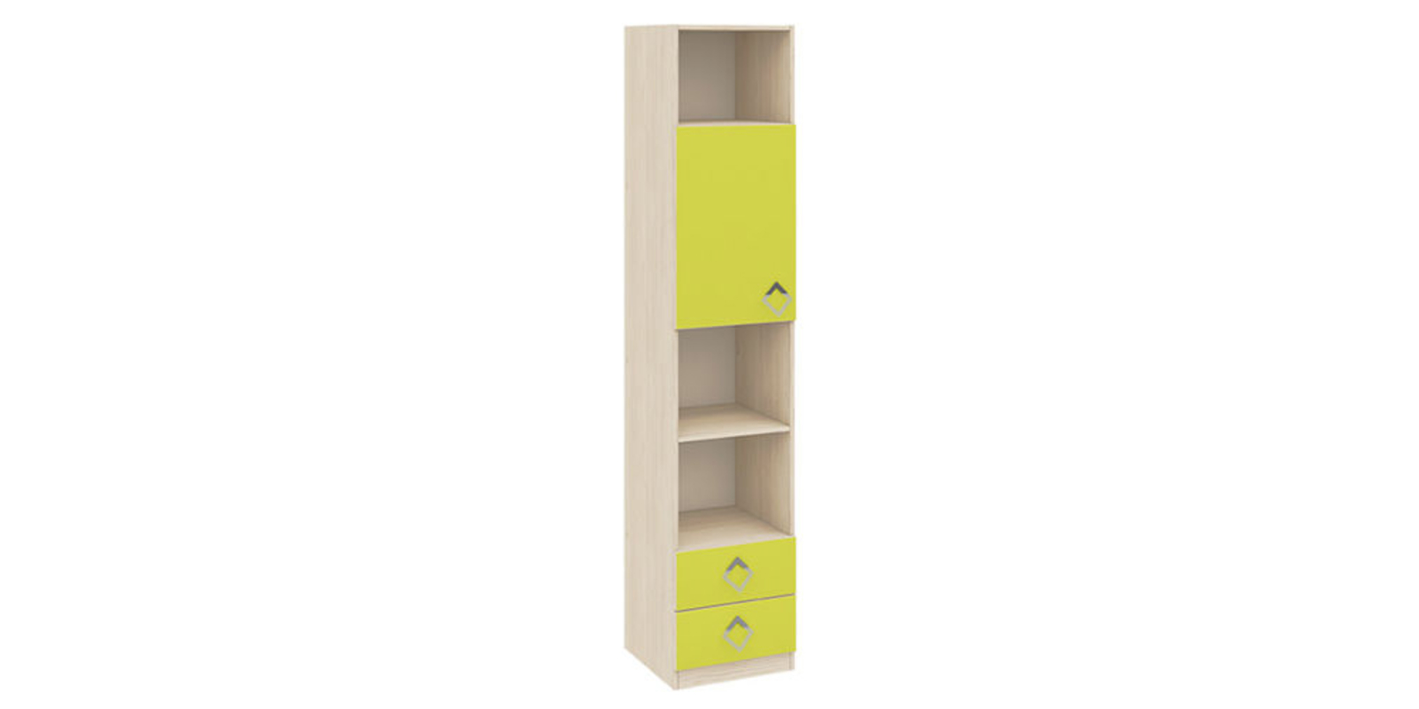 Шкаф распашной однодверный Салоу вариант №1 (каттхилт/лайм)