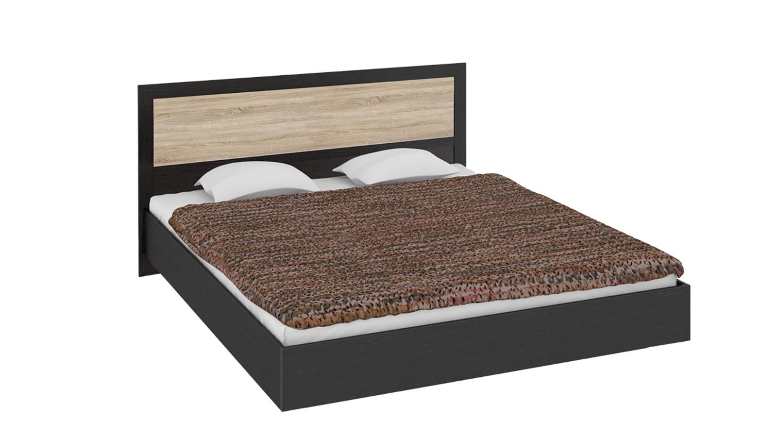 Кровать каркасная Дельта с ортопедическим основанием (венге цаво/дуб сонома)