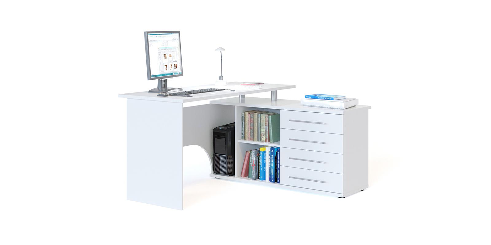 Стол компьютерный HomeMe Сноу AFU0075000