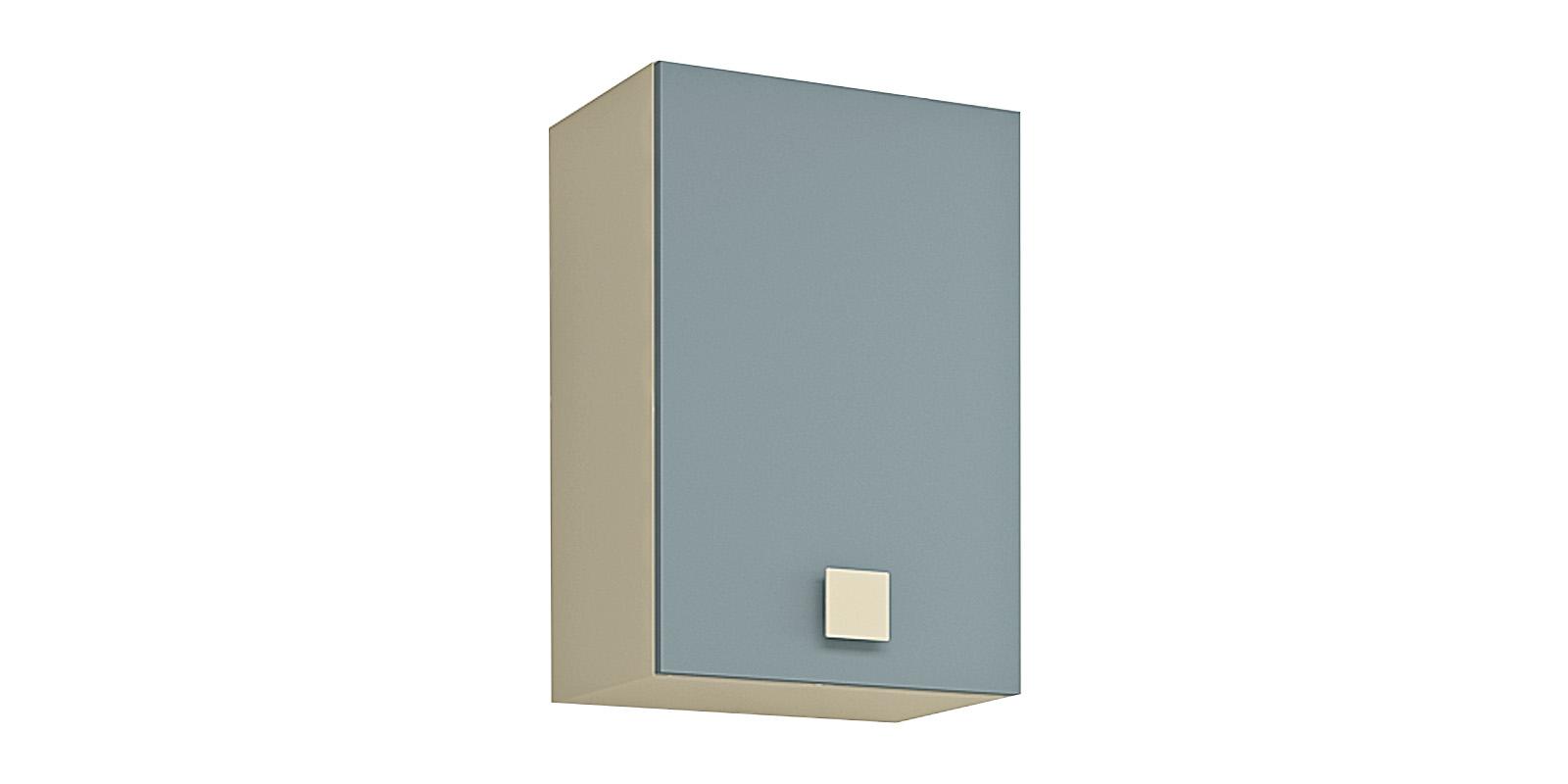 Шкаф навесной Нова (бежевый/голубой)