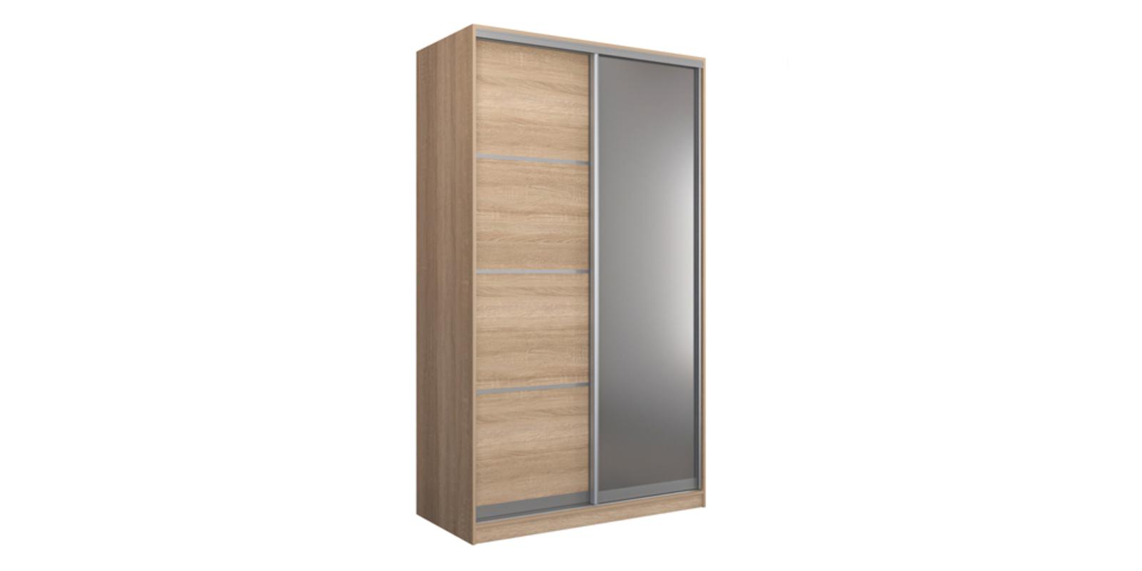 Шкаф-купе двухдверный Манхеттен 140 см (сонома+зеркало)
