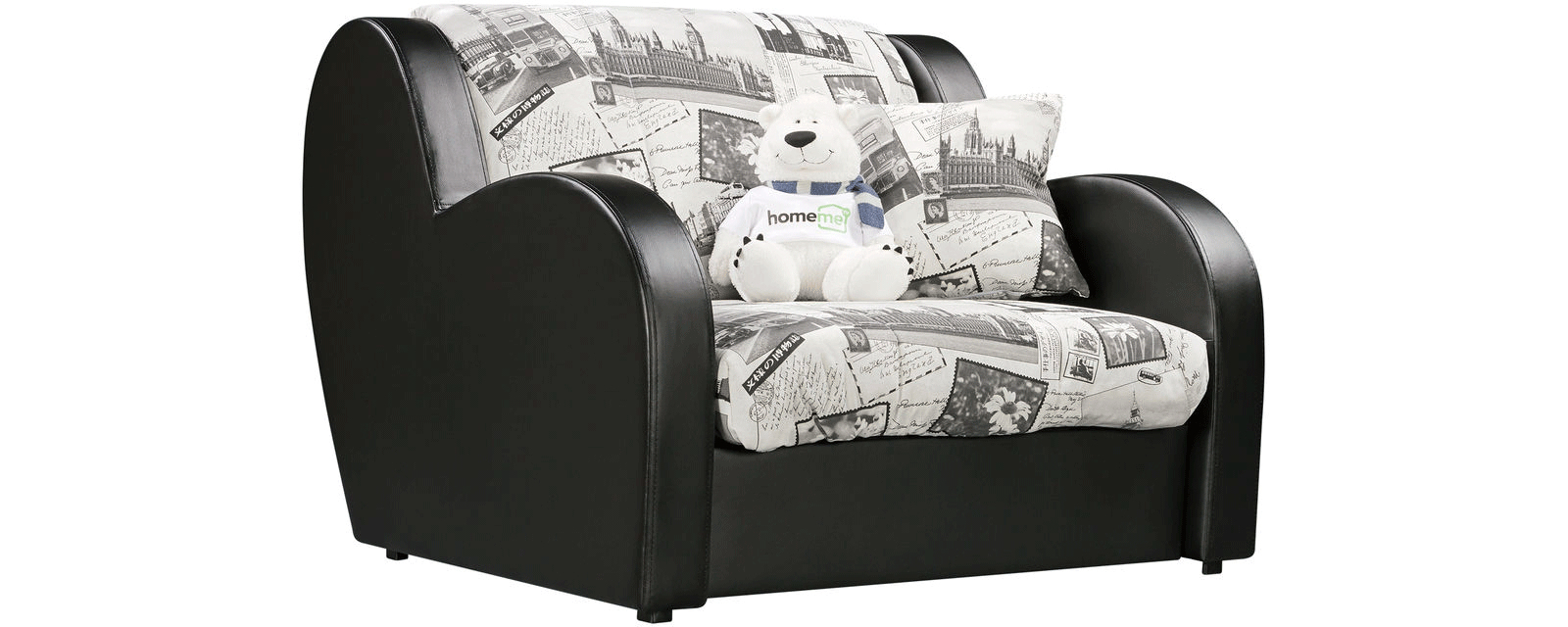 Кресло тканевое Барон Gazeta (Ткань + Экокожа)