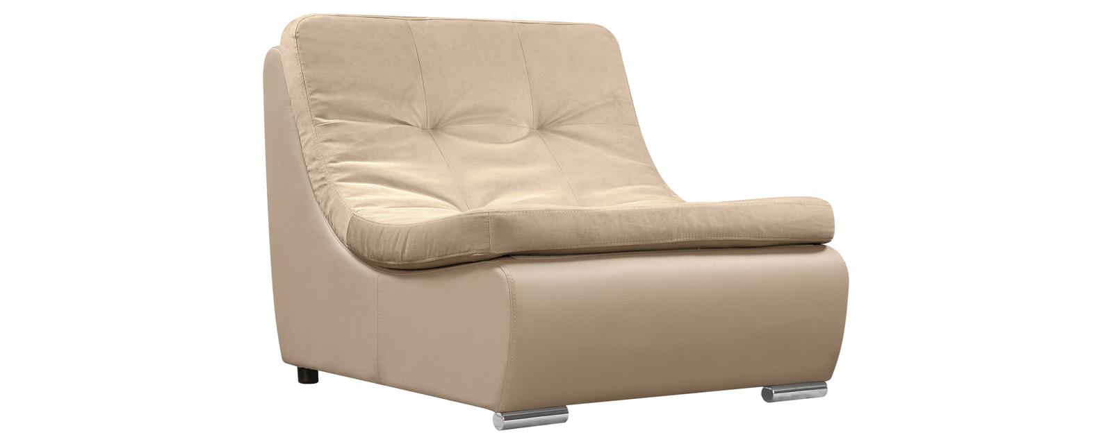 Кресло тканевое Лос-Анджелес Velure бежевый (Ткань + Экокожа)