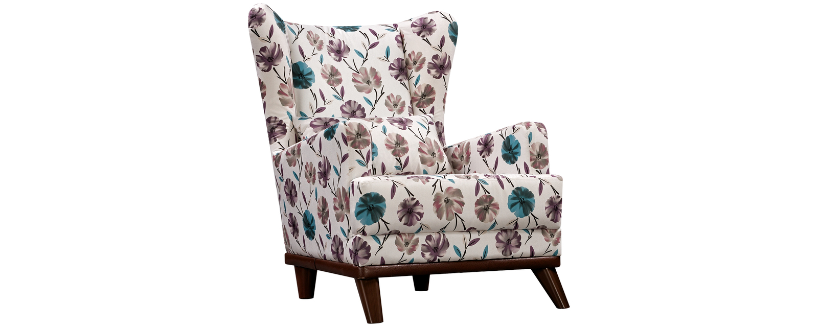 Кресло тканевое Оскар Flowers бежевый (Ткань)