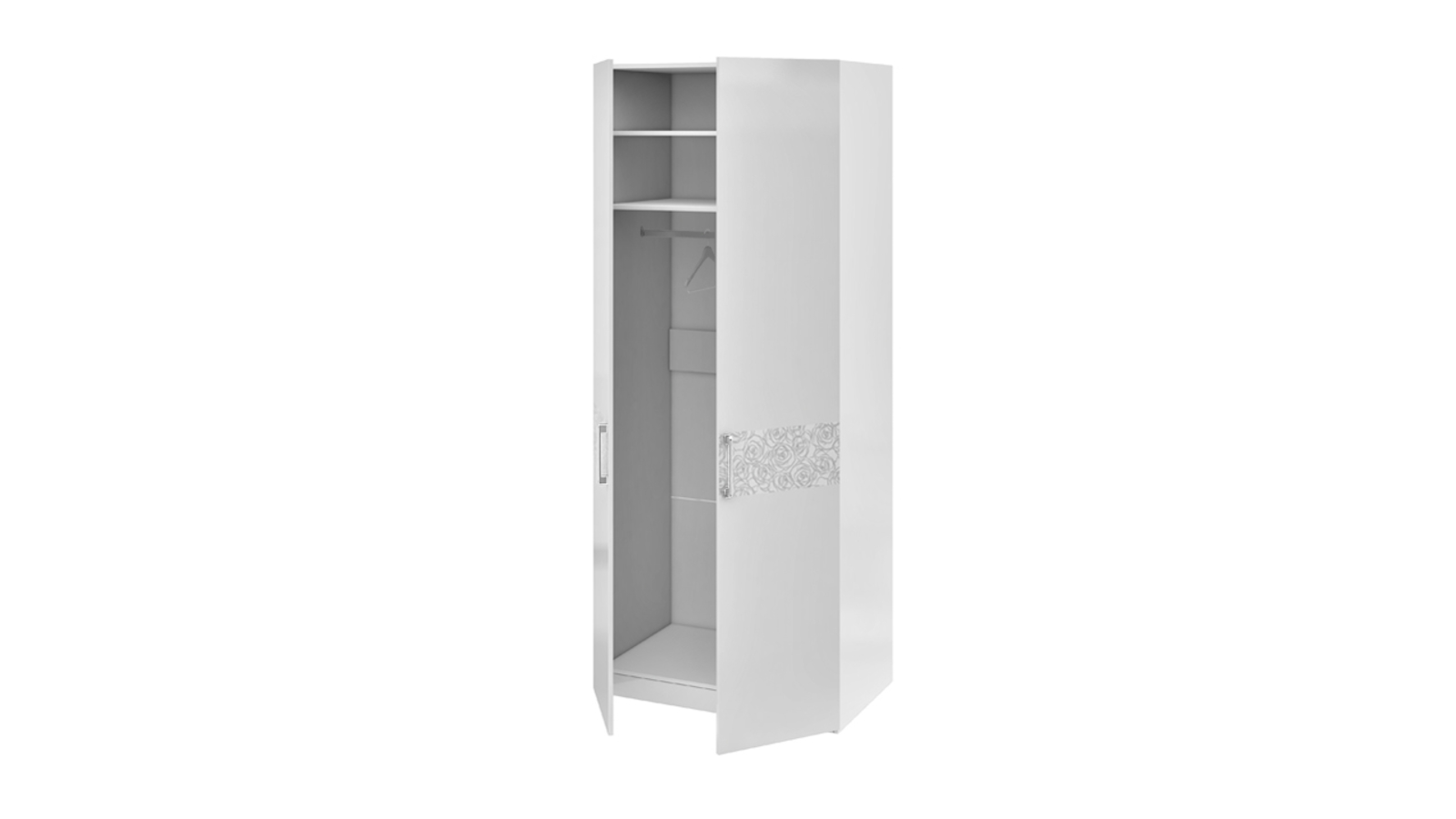 Тюменьмебель шкаф для одежды с 1-й глухой и 1-й зеркальной д.
