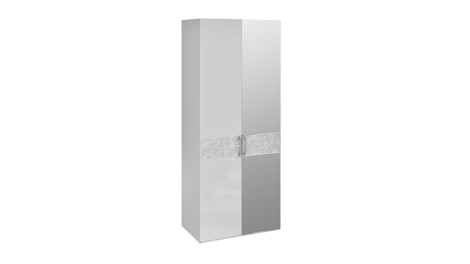 Амели шкаф для одежды с 1-й глухой и 1-й зеркальной дверями .