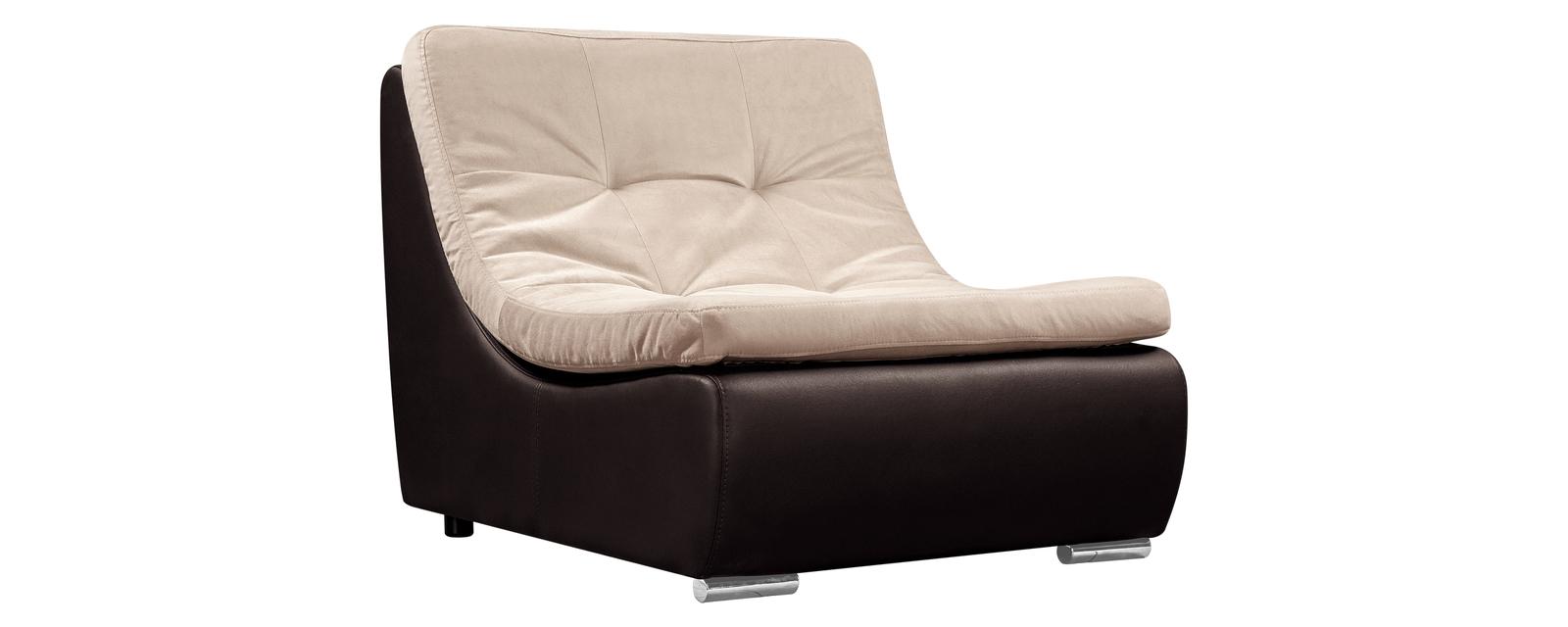 Кресло тканевое Лос-Анджелес Velure бежево-коричневый (Ткань + Экокожа)