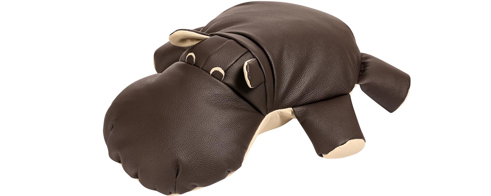 Игрушка Бегемот Шоколадный (Натуральная кожа)