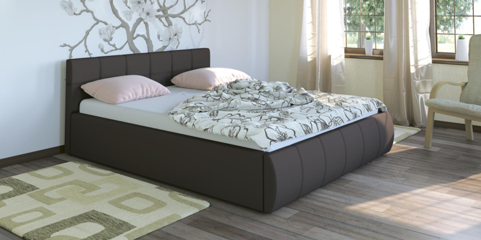 Кровать мягкая Афина с подъемным механизмом (Коричневый)