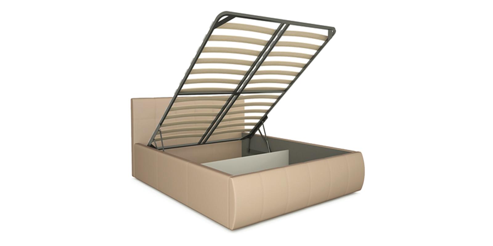 Кровать мягкая Афина с подъемным механизмом (Бежевый) от HomeMe.ru