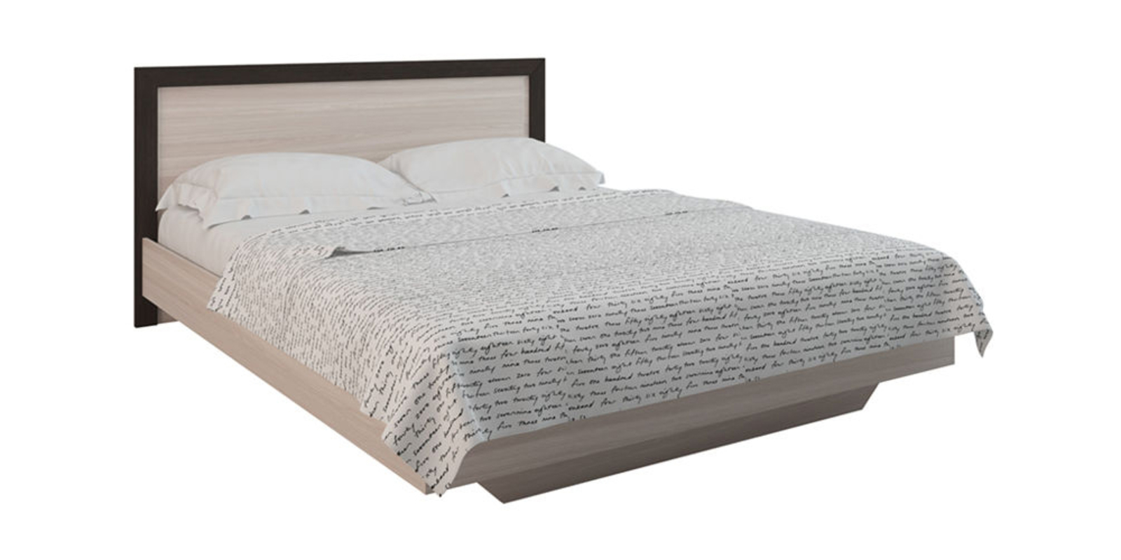 Кровать каркасная Калифорния без подъемного механизма (Ясень/Анкор)