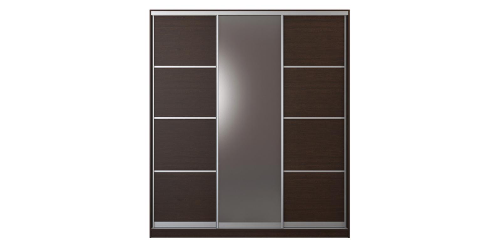 Купить шкаф-купе трехдверный манхеттен 210 см (венге+зеркало.