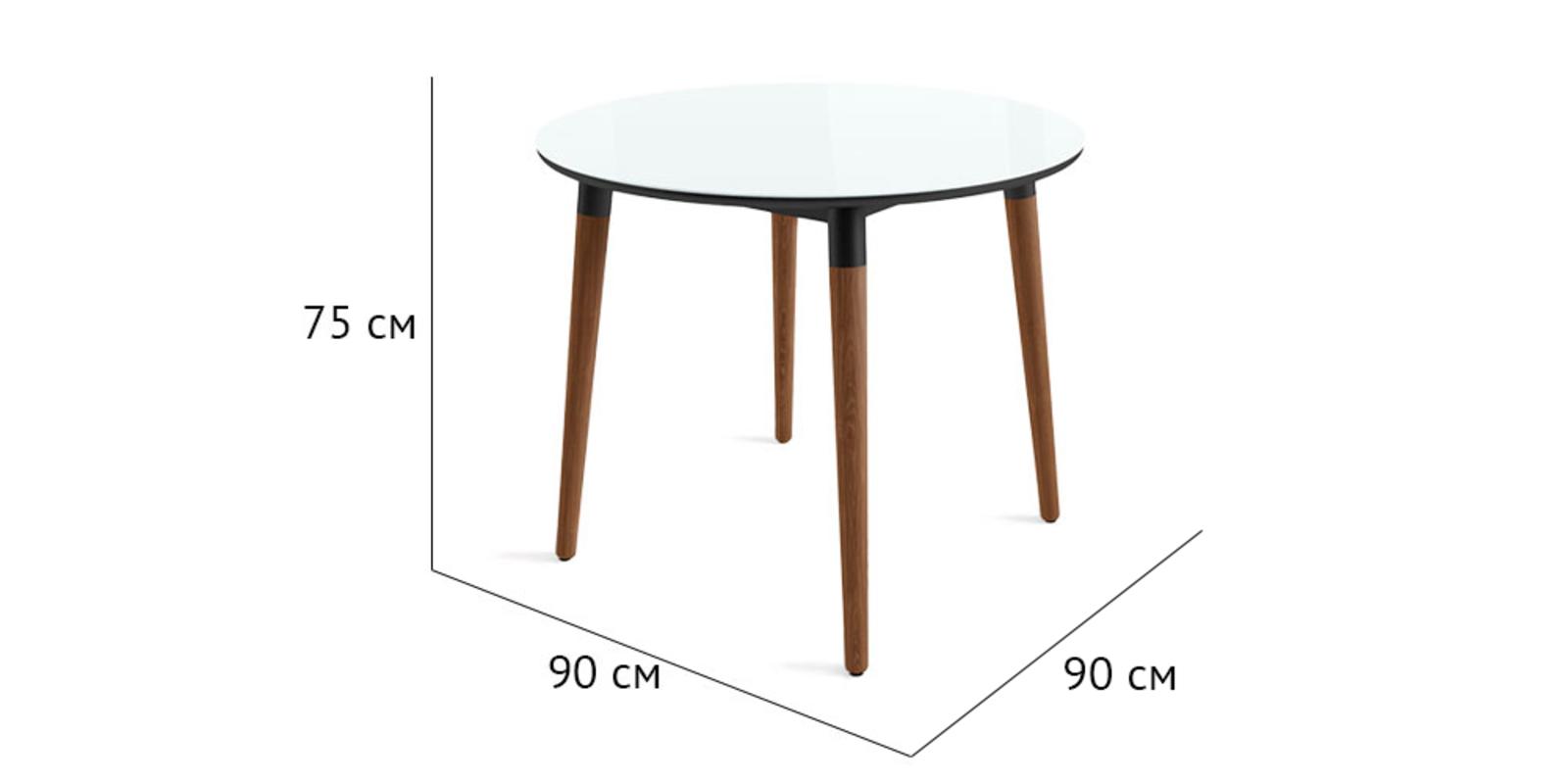 Стол обеденный Дотс (белый/темное дерево) от HomeMe.ru