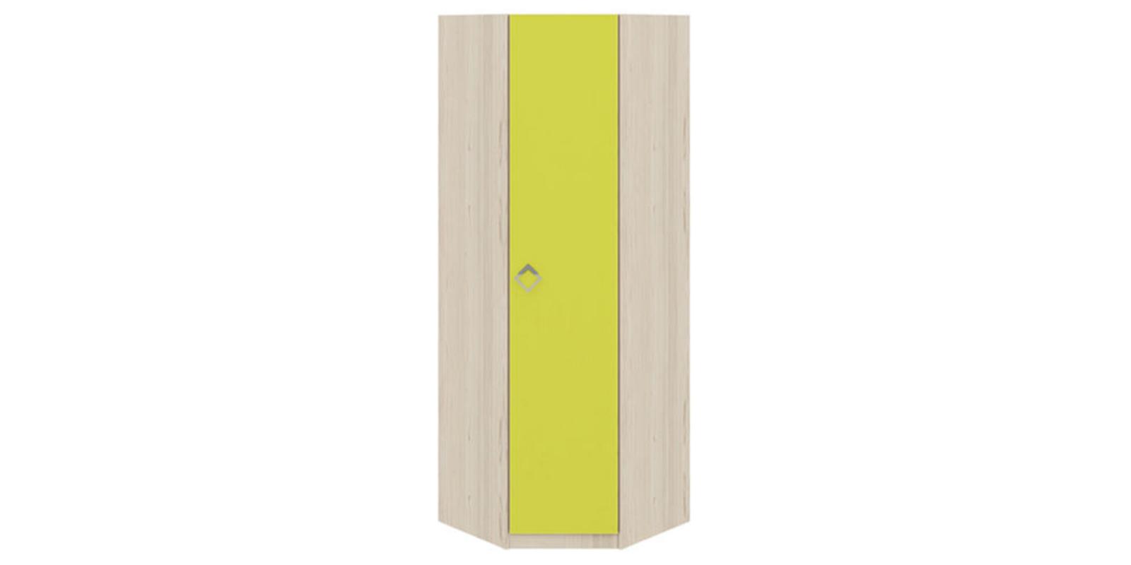 Шкаф распашной угловой Салоу универсальный угол (каттхилт/лайм)
