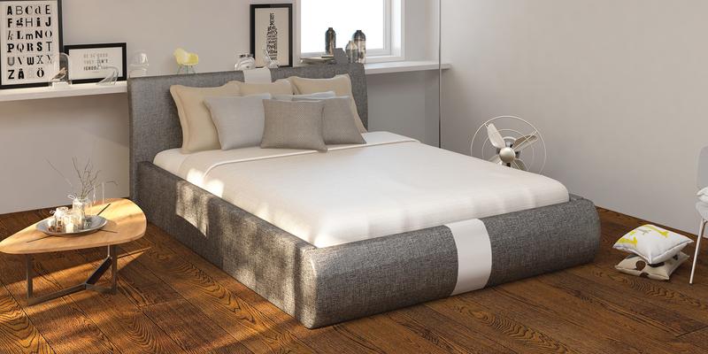 Мягкая кровать 200х160 Флора с подъемным механизмом (Madagascar серый)