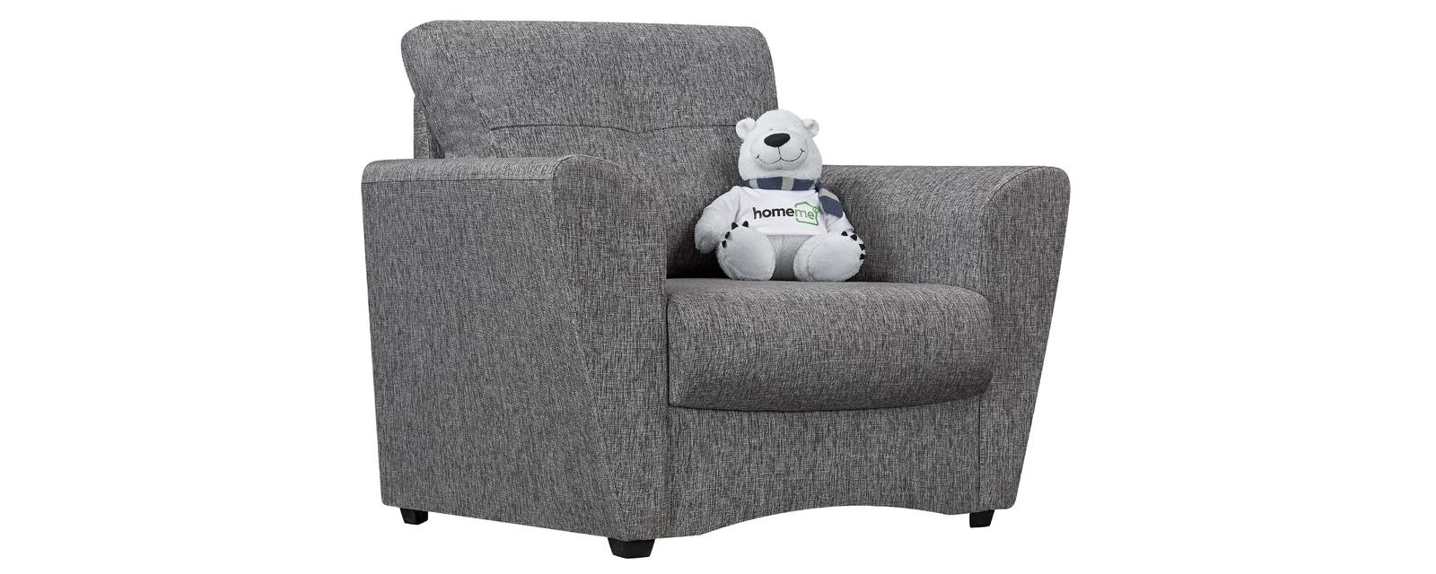 Кресло тканевое Амстердам Madagascar серый (Рогожка) HomeMe