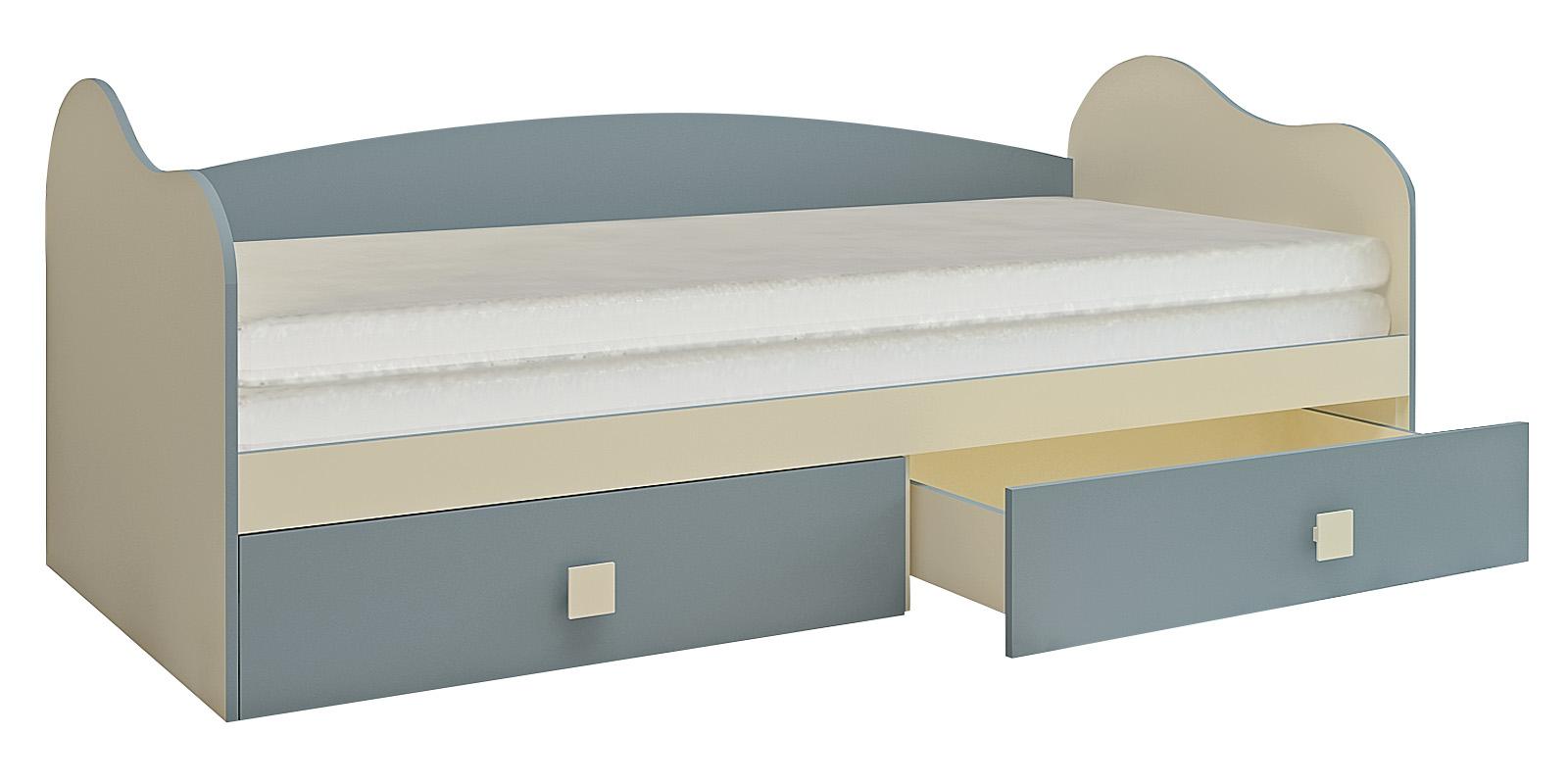 Кровать односпальная Нова вариант №2 (бежевый/голубой)