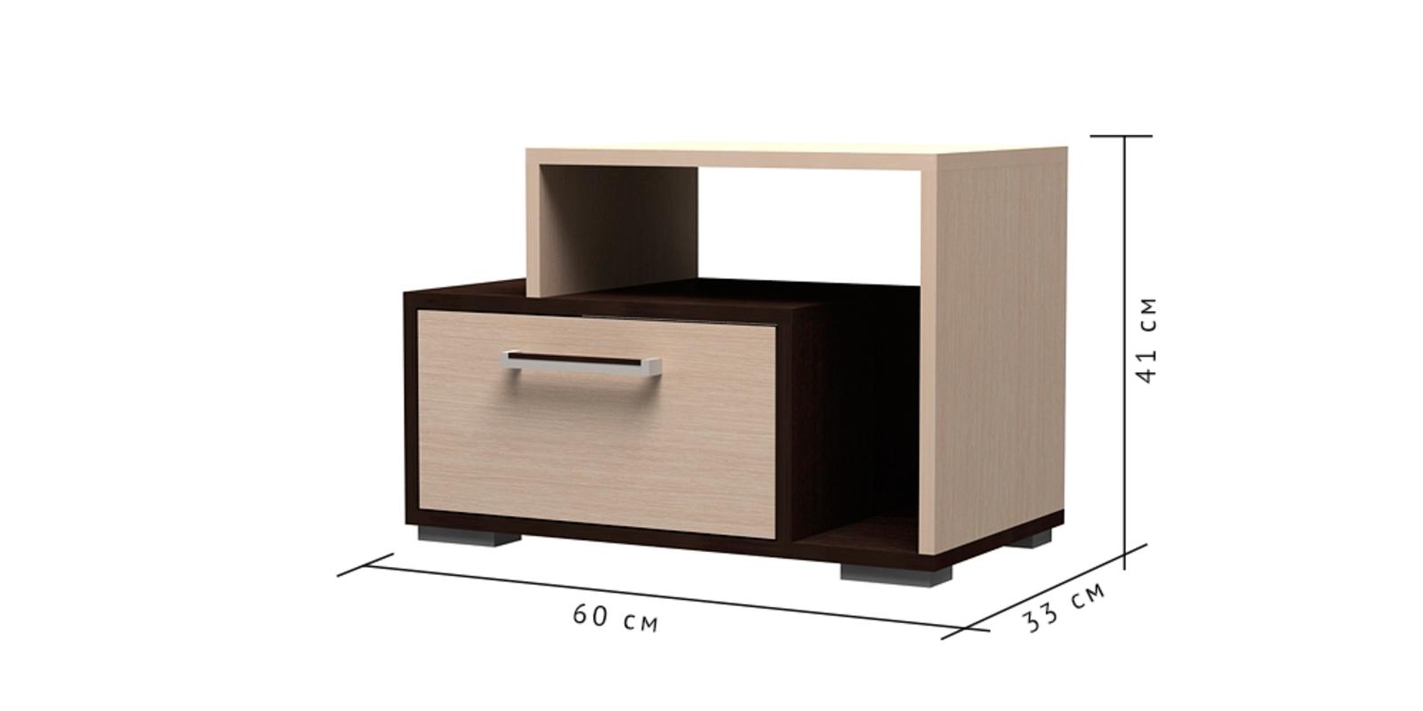 Тумба прикроватная Медея вариант №2 (венге/дуб белфорт)