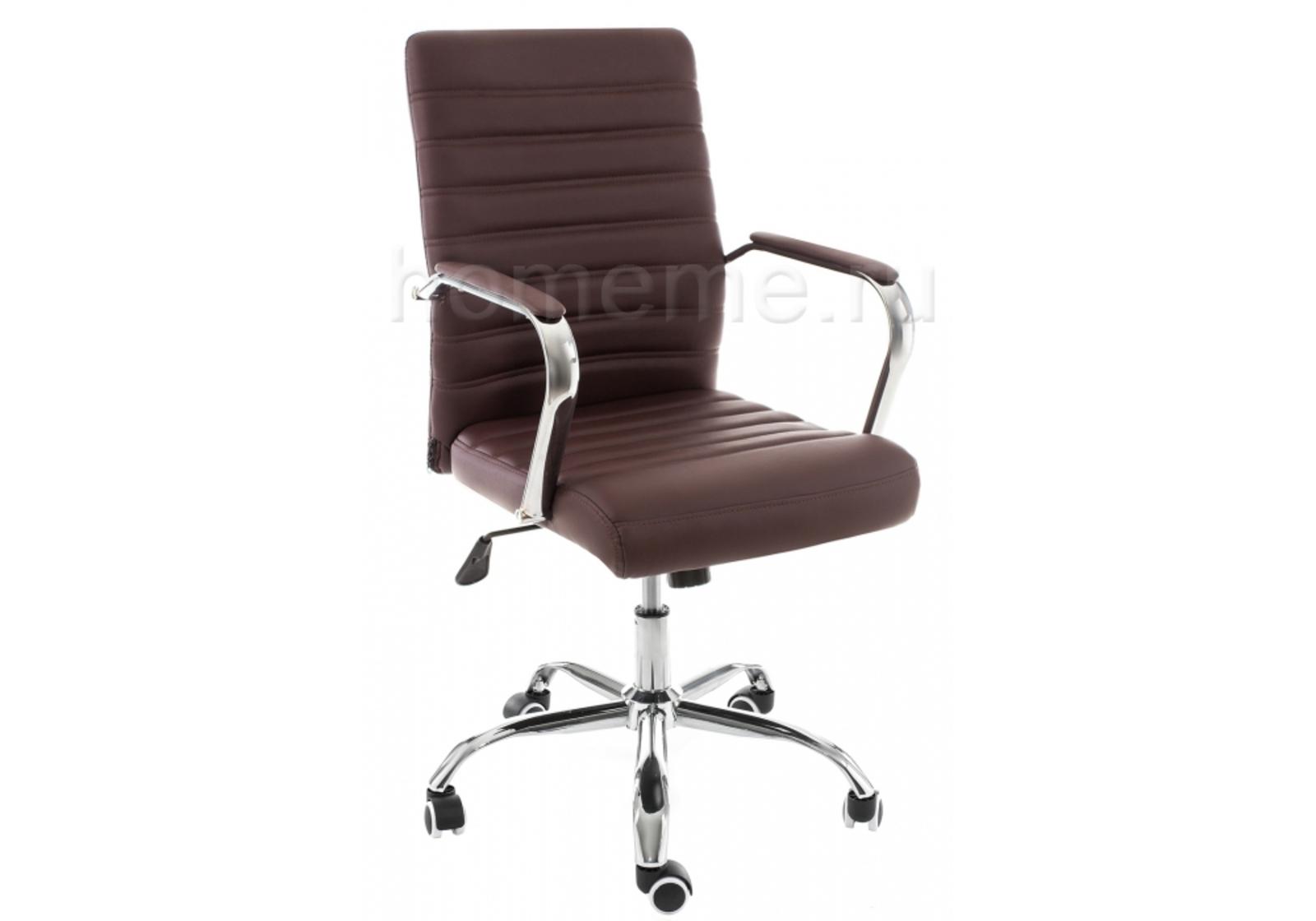 Кресло для офиса HomeMe Компьютерное кресло Tongo коричневое 11068 от Homeme.ru