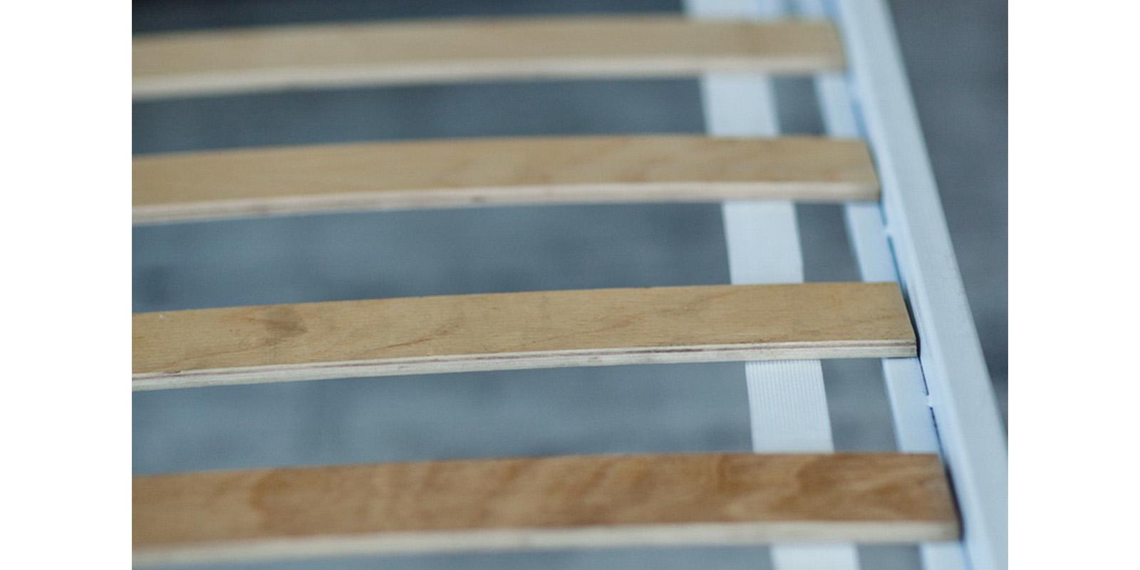 Металлическая кровать 140х200 Верона с ортопедическим основанием (белый с золотом) S016/1-4