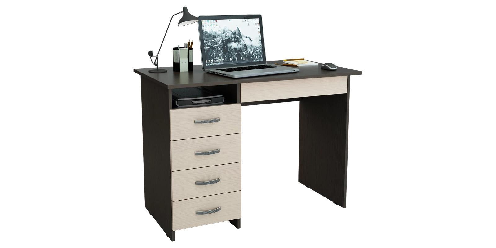 Письменный стол Харви вариант №1 (венге/дуб молочный)