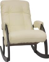 Кресло-качалка Модель 67 Венге, к/з Dundi 112