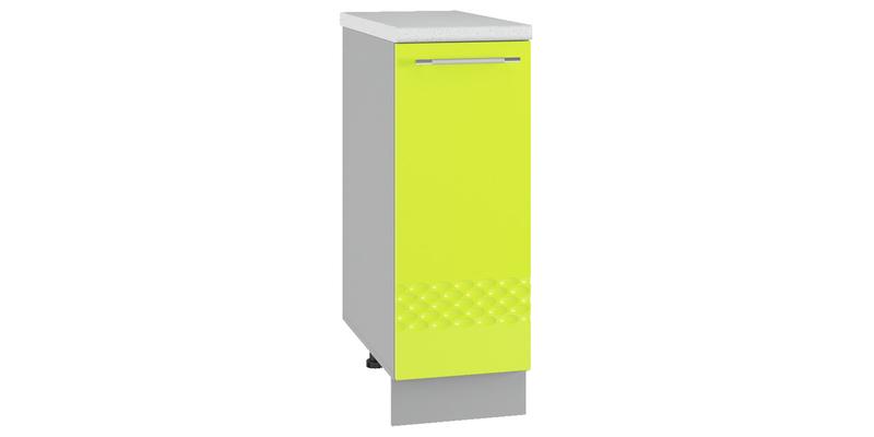 Кухонный напольный шкаф Тиара 30 см вариант №1 (серый/лайм глянец, правый)