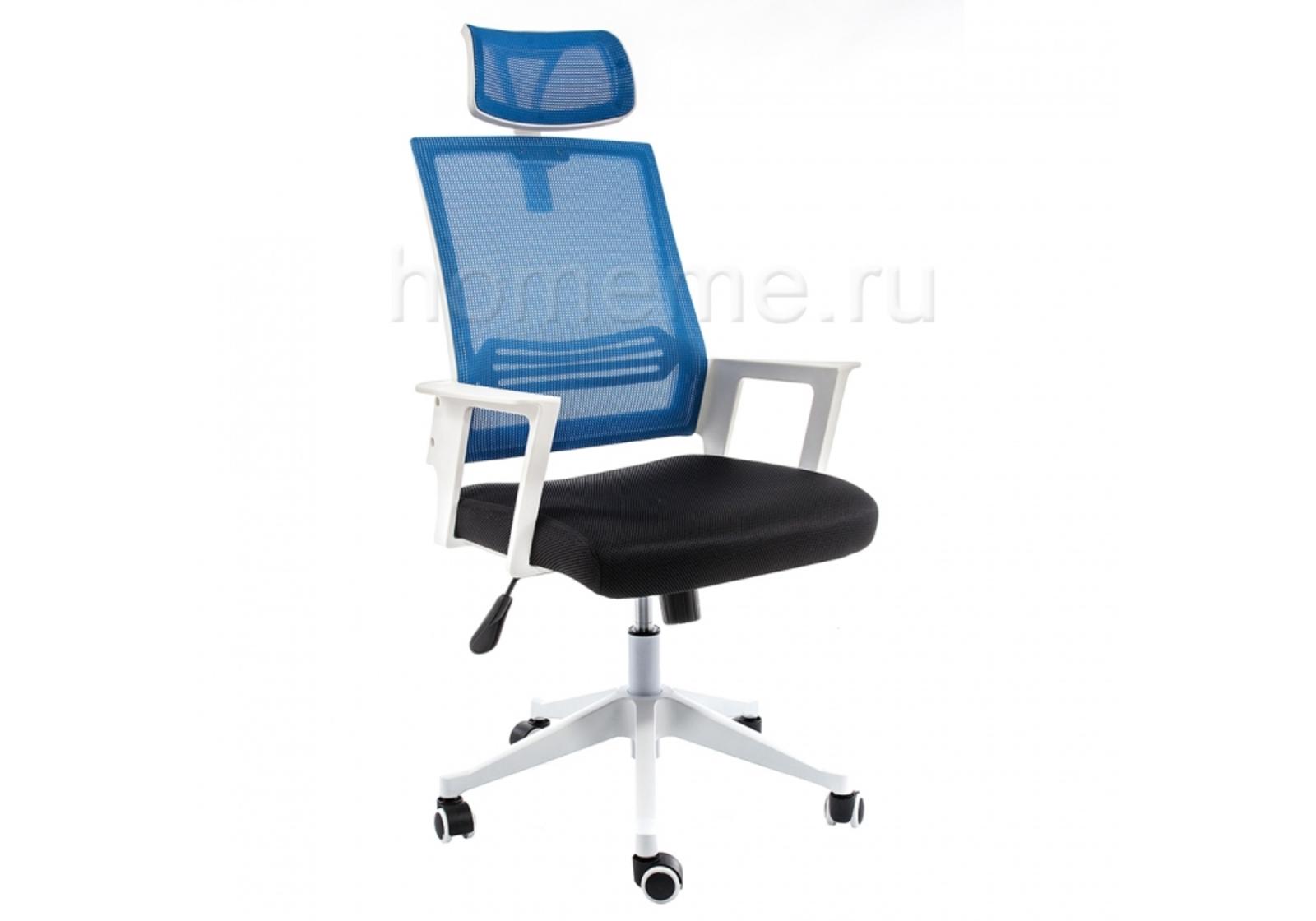 Кресло для офиса HomeMe Dreamer белое / черное / голубое 1984 от Homeme.ru
