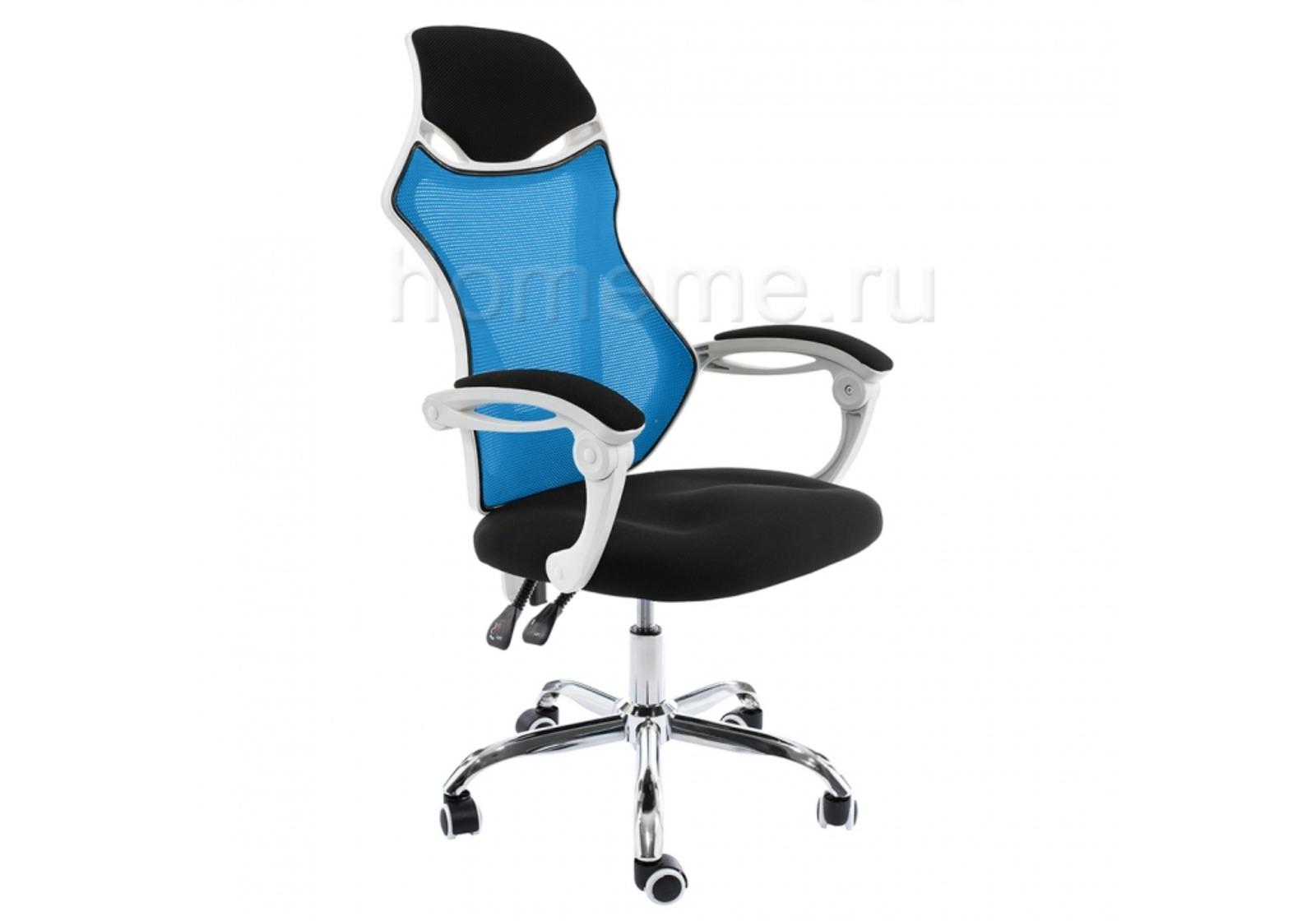 Кресло для офиса HomeMe Armor белое / черное / голубое 1981 от Homeme.ru
