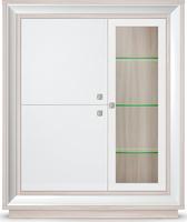 Шкаф 3-х дв. (1 ст/дв) 1179 низкий Прато