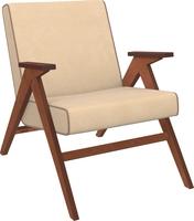 Кресло для отдыха Вест Орех, ткань Verona Vanilla, кант Verona Brown