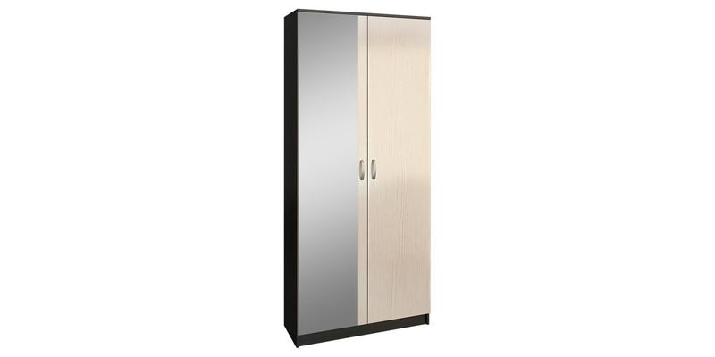 Шкаф распашной двухдверный Хельга вариант №2 (венге/дуб молочный)