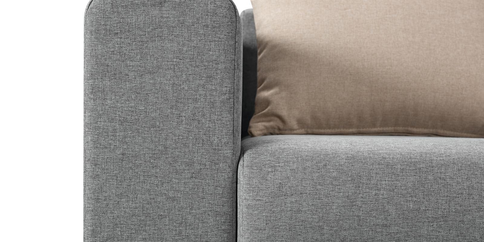Модульный диван Медисон Вариант №1 Falcone серый (Рогожка)