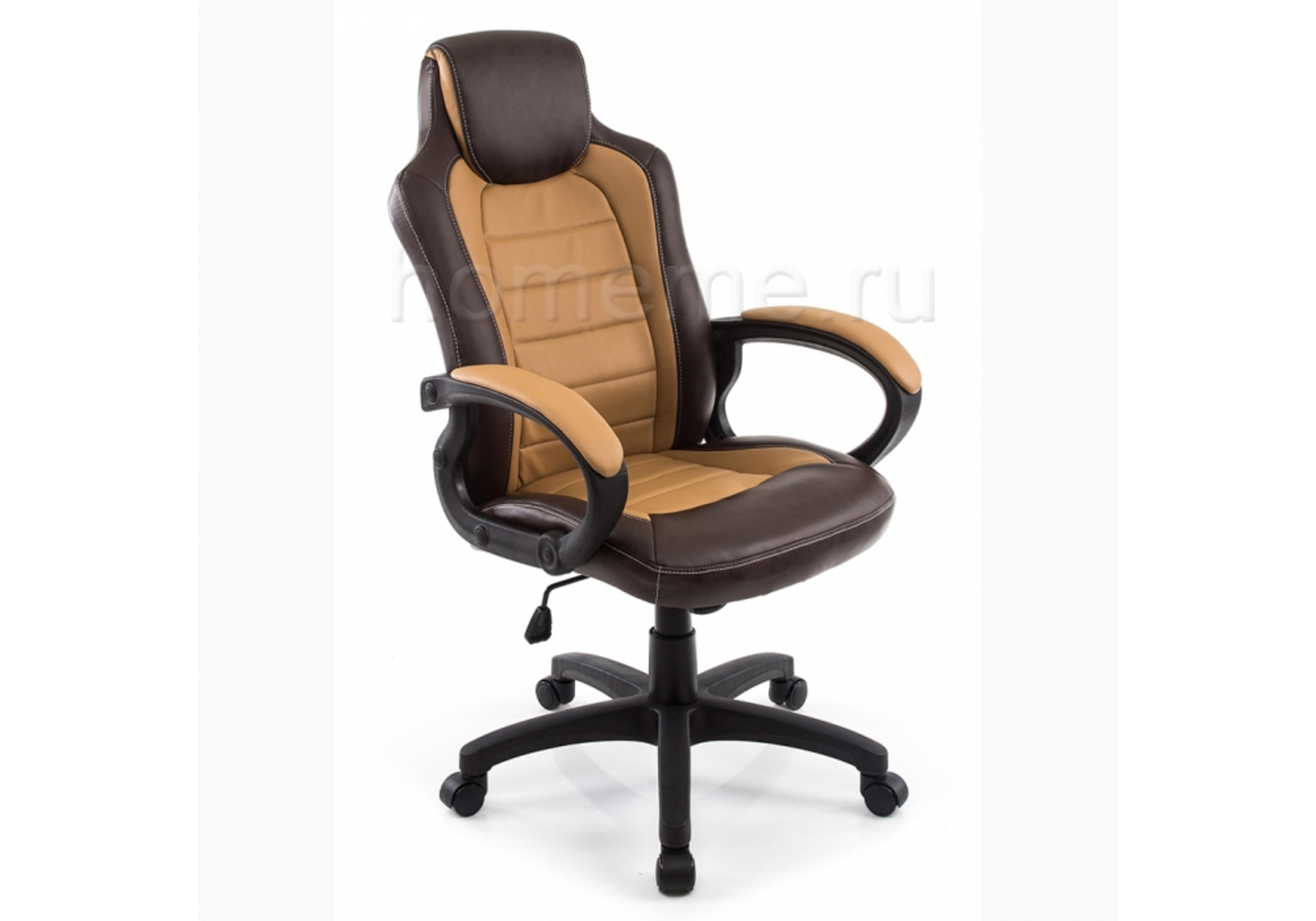 Кресло для офиса HomeMe Kadis коричневое / бежевое 1726 от Homeme.ru