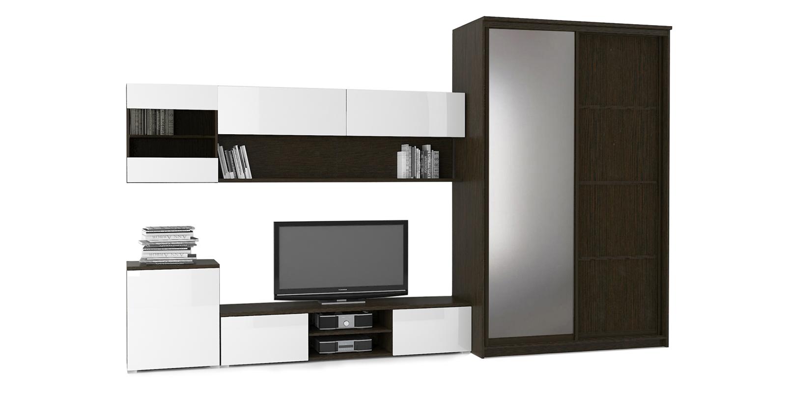Модульная система Верона вариант №6 (венге/белый глянец) от HomeMe.ru