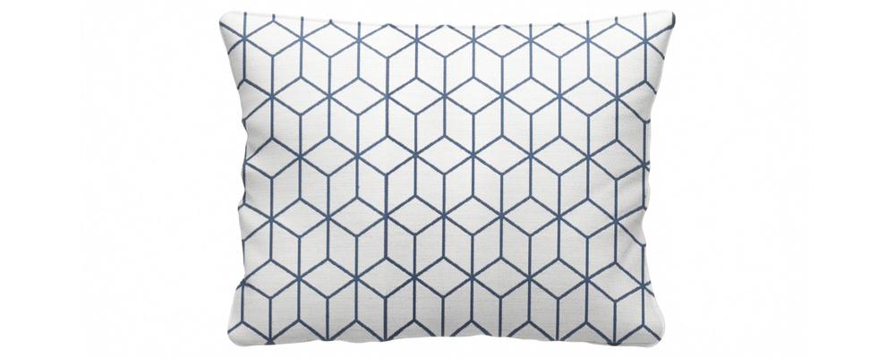 Декоративная подушка Портленд 60х48 см Talisman вариант №2 синий (Жаккард)