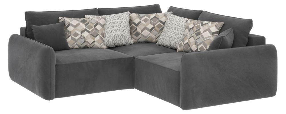 Модульный диван Портленд вариант №6 Premier серый (Микровелюр)