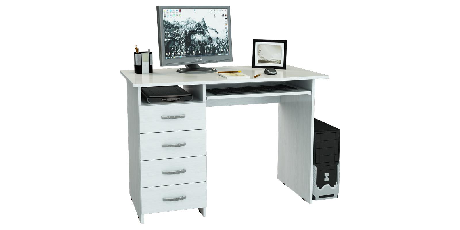 Стол компьютерный Харви левый (белый)