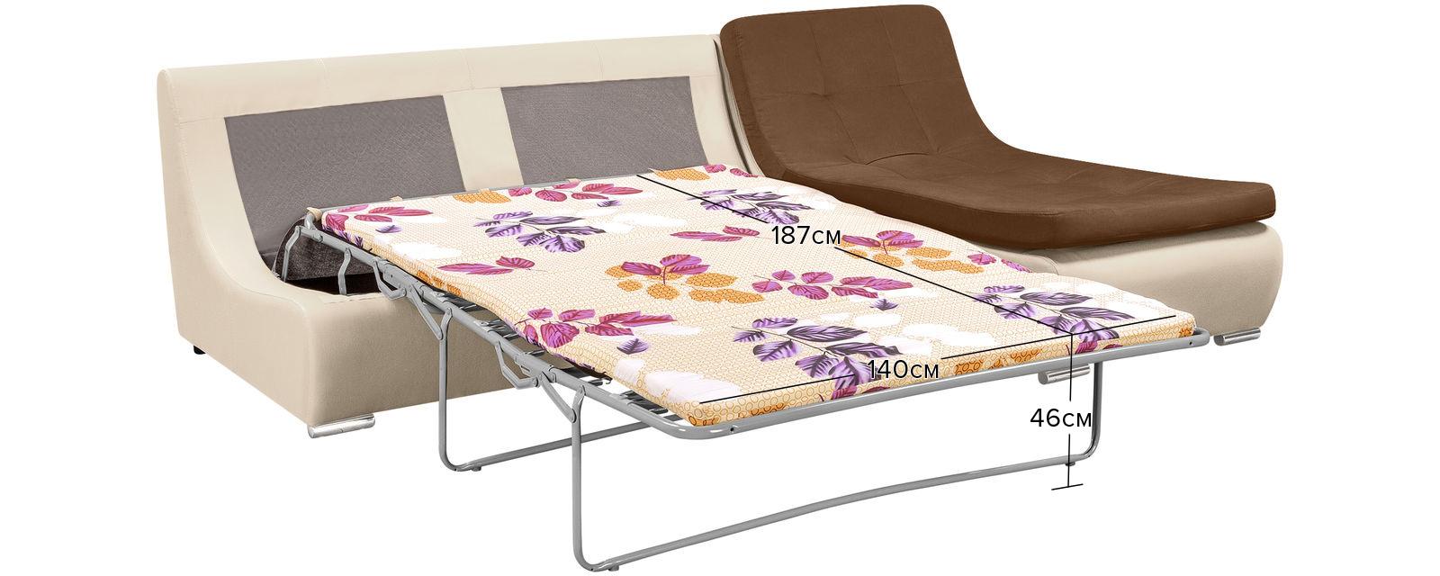 Модульный диван Лос-Анджелес Velure коричневый Вариант 1 (Велюр + Экокожа) от HomeMe.ru