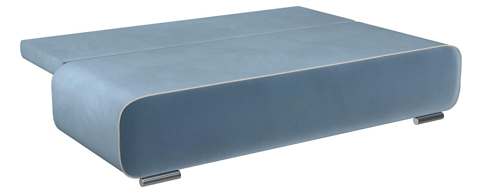 Диван тканевый прямой Лаки Amigo серо-синий (Велюр)