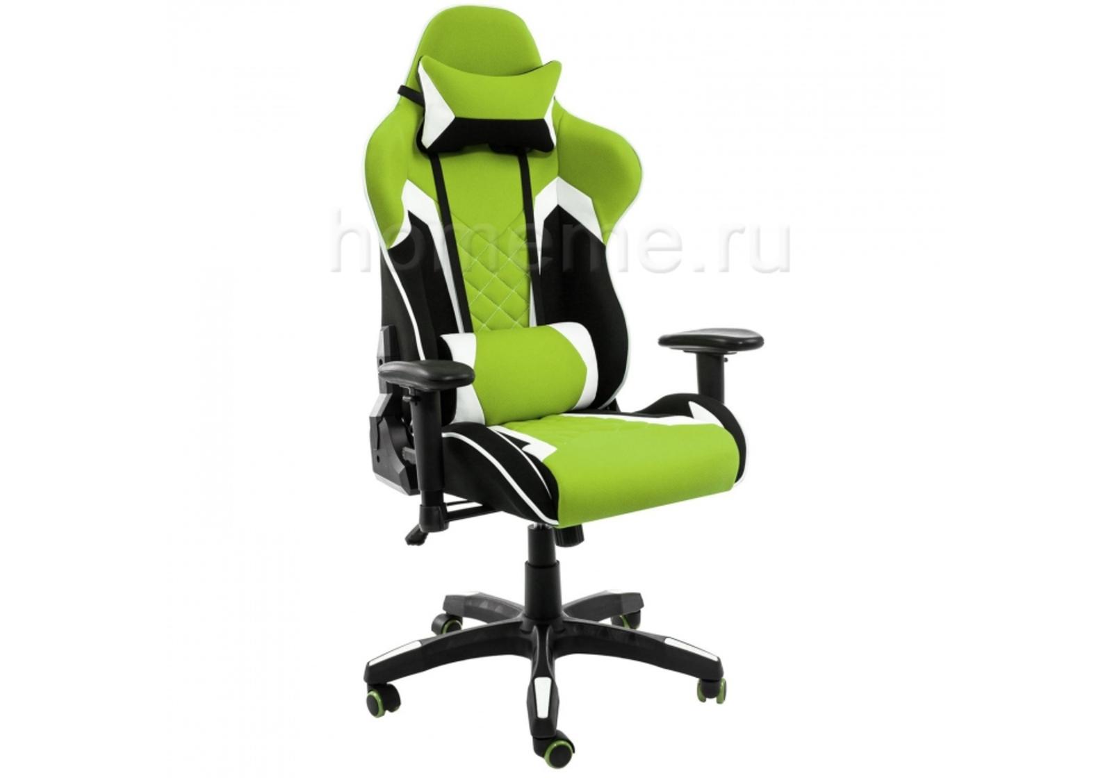 Кресло для офиса HomeMe Prime черное / зеленое 1858 от Homeme.ru