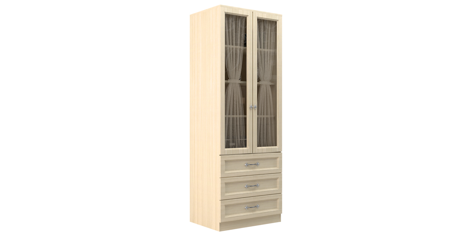 Шкаф витрина Дениз вариант №2 (дуб молочный)