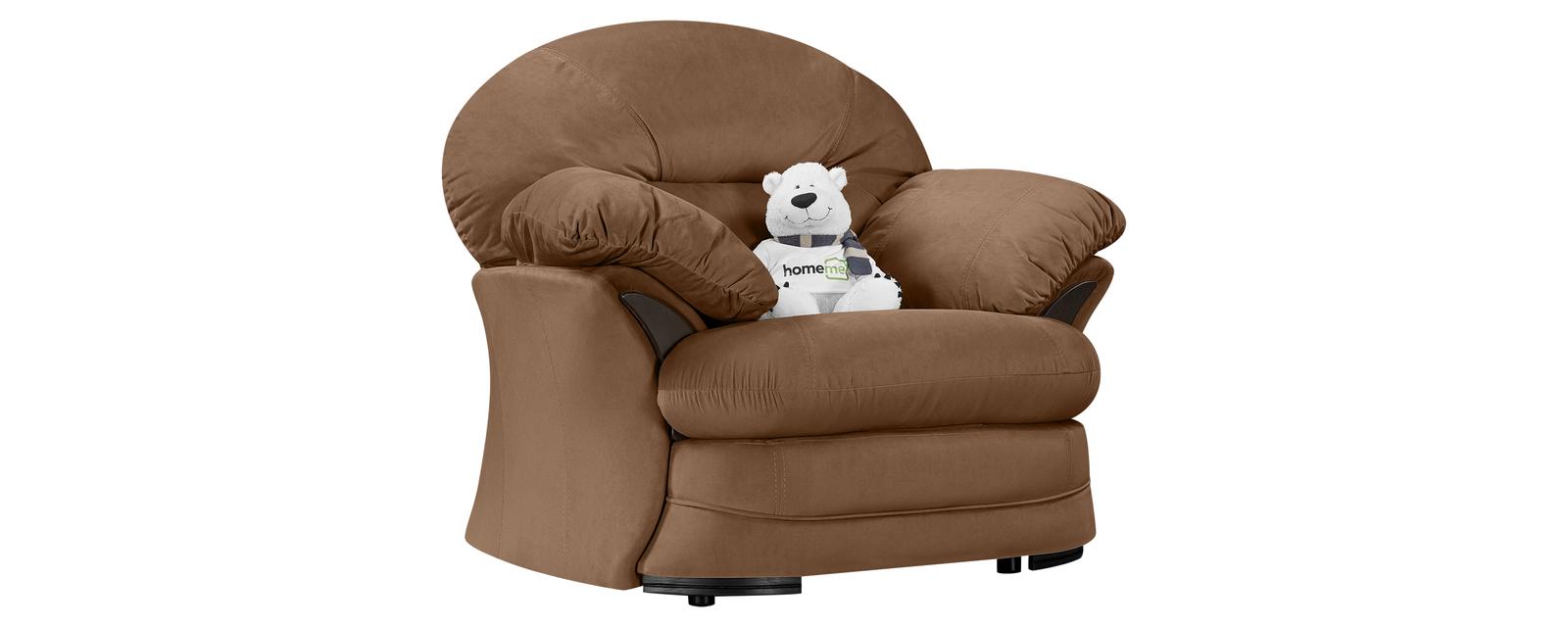 Кресло тканевое Ланкастер Velure коричневый (Велюр) Ланкастер