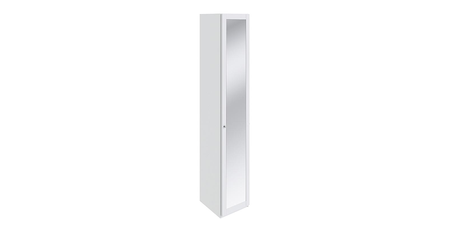 Шкаф распашной однодверный Мерида вариант №6 торцевой (белый/зеркало) Мерида