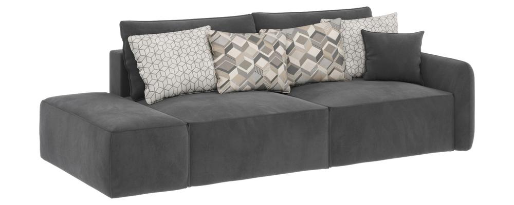 Модульный диван Портленд вариант №2 Premier серый (Микровелюр)